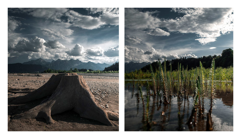 Forggensee-Trockenphase-Unterwasser