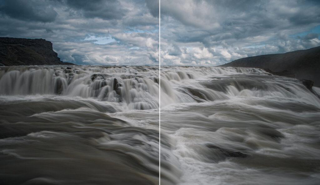 Orton Effekt Landschaft Wasserfall
