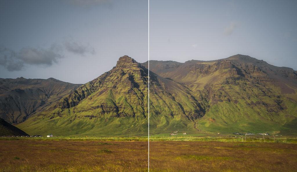 Orton Effekt Landschaft Berge