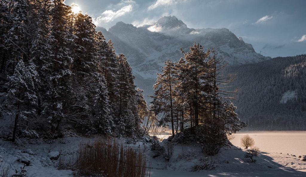 Eibsee im Winter Zugspitze